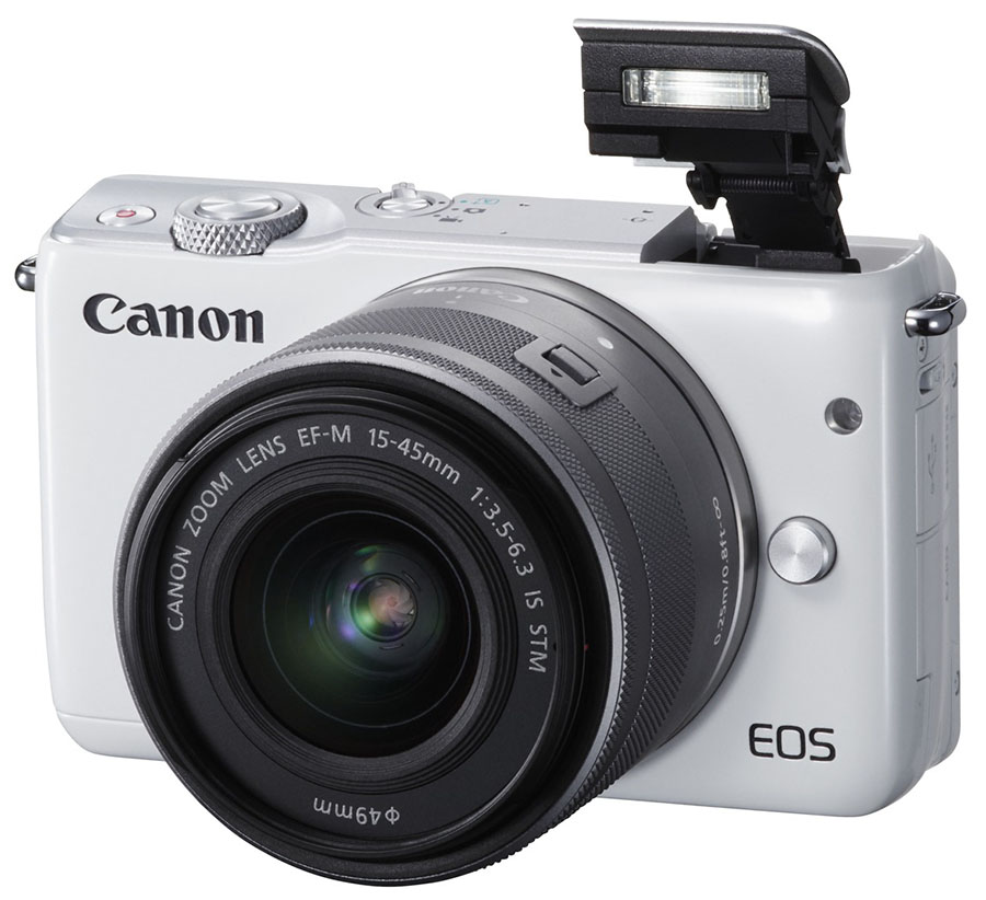 EOS M10_WHT EF-M15-45STM FSL Flash UP