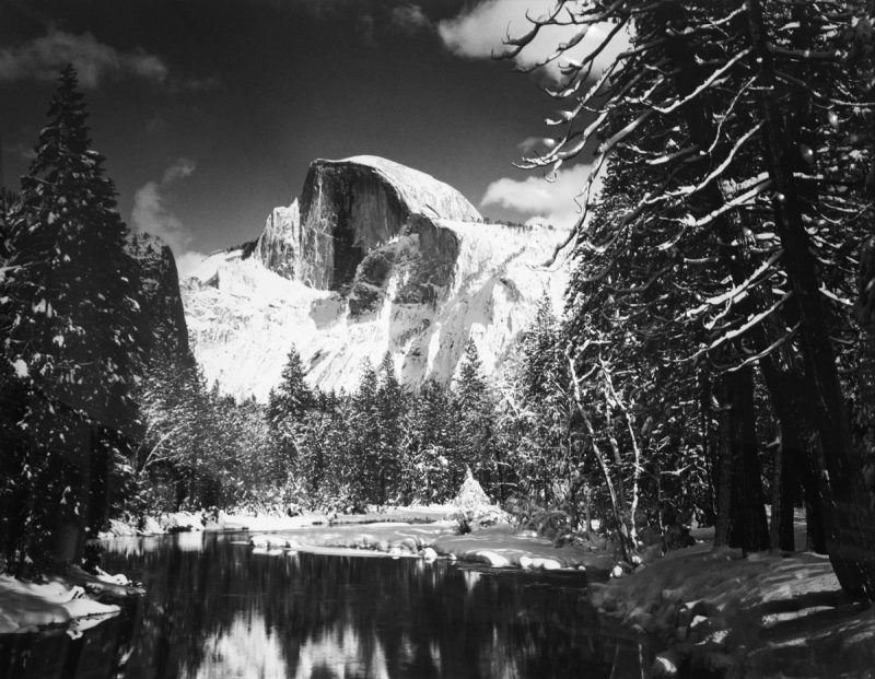 Ansel-Adams_Half_Dome_Merced_River_Winter_Yosemite_Valley