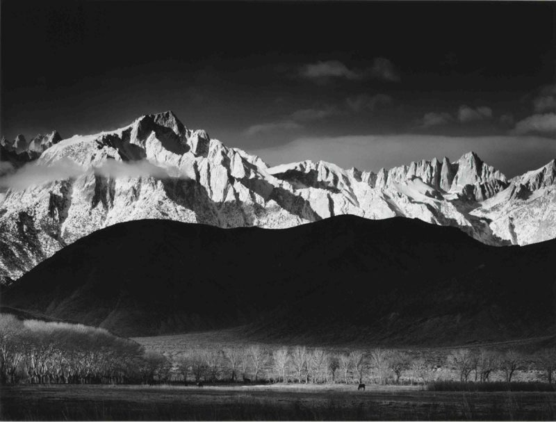 Ansel-Adams_Winter Sunrise, Sierra Nevada from Lone Pine