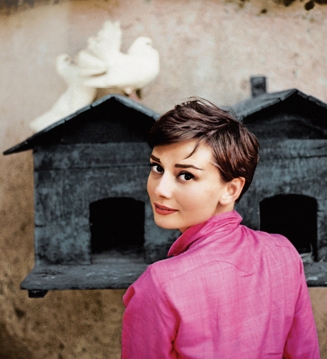 ITALY. La Vigna. 1955. Dutch actress Audrey HEPBURN posing for a LIFE Magazine cover image