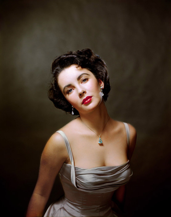 "USA. 1948. American actress Elizabeth TAYLOR poses for the magazine ""Life."""