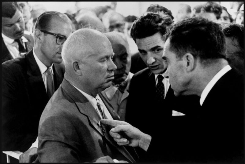 RUSSIA. Moscow. Nikita KHRUSHCHEV and Richard NIXON.
