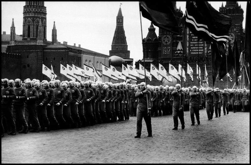 USSR. Moscow. 1957. Parade in Red Square for the 40th anniversary of the Bolshevik Revolution.