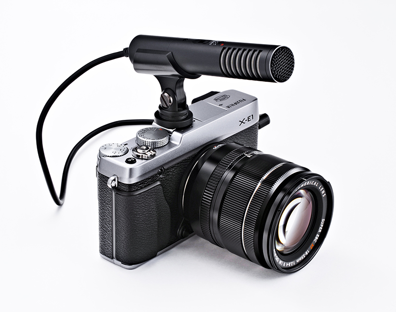 X-E1 with microphone