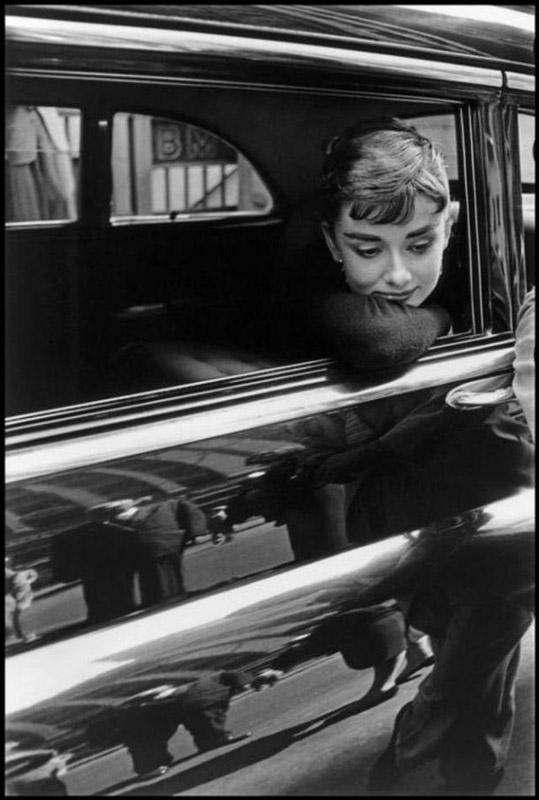 1954 год, Нью-Йорк. Голландская актриса Одри Хепберн во время съемок фильма «Сабрина» Билли Уайлдера.