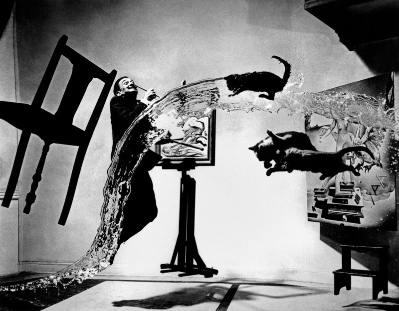 "Spanish painter Salvador DALI. ""Dali Atomicus."" 1948"