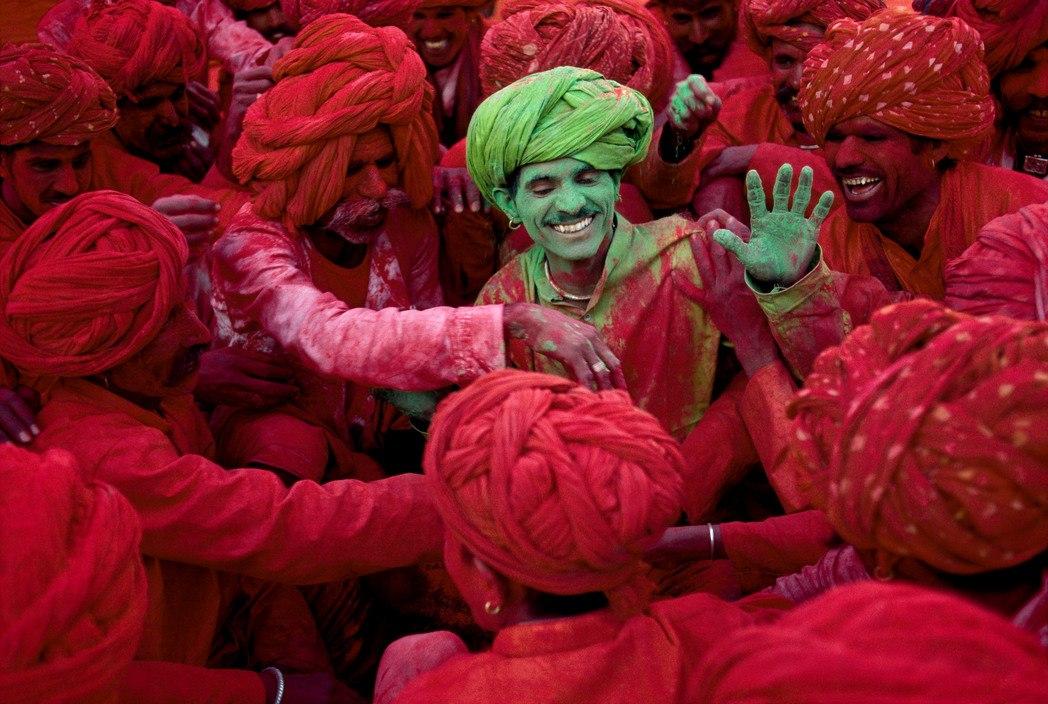 INDIA. Rajasthan. 1996. Holi Festival