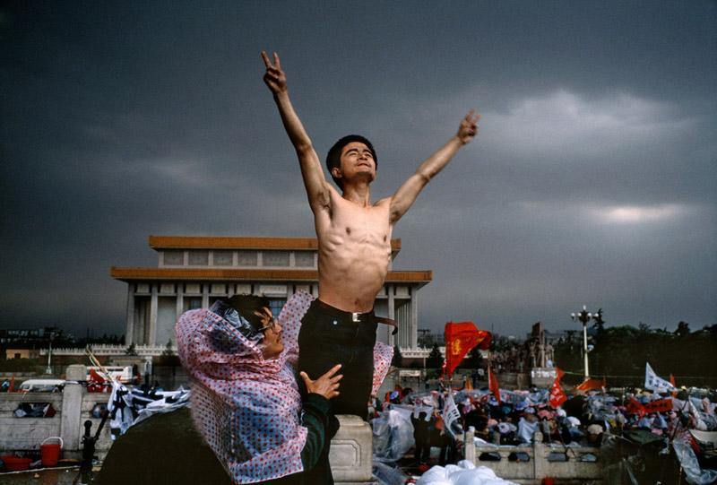 CHINA. Beijing. Tiananmen Square. 1989