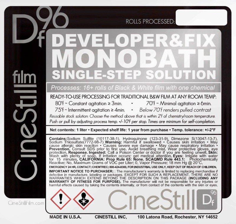 CineStill Df96 - проявляюший фиксаж для любых черно-белых пленок