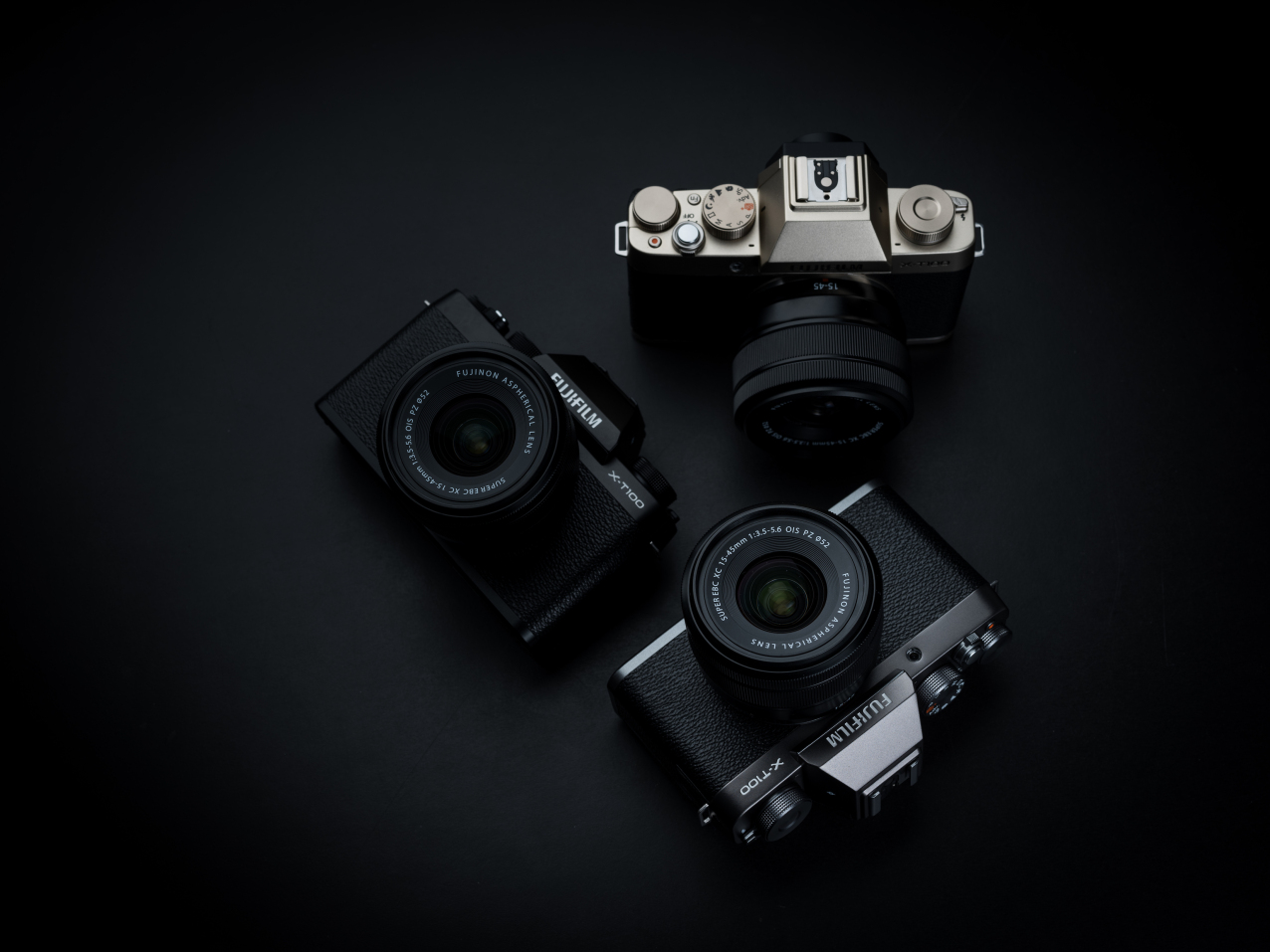 Fujifilm X-T100 press images, colors