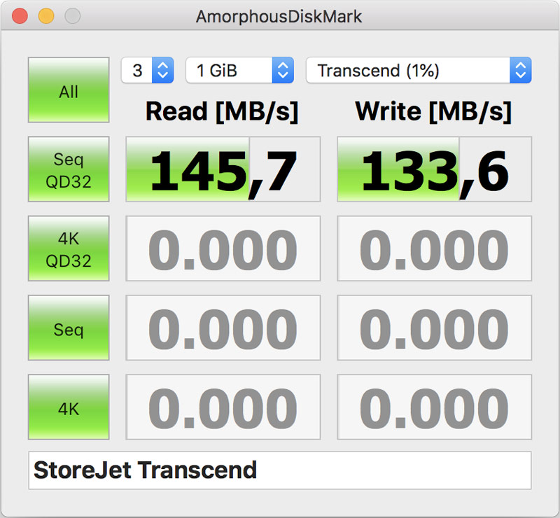 Скорость работы Transcend StoreJet 25M3S