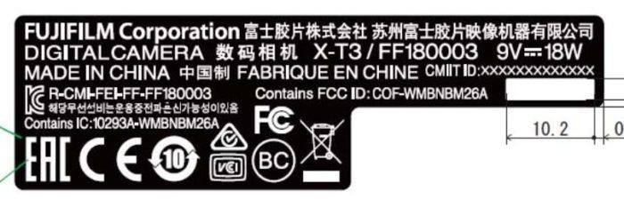 Зарегистрирована камера Fujifilm X-T3