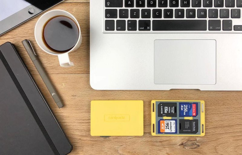 Cardpackr - расширяемый магнитный чехол для хранения карт памяти