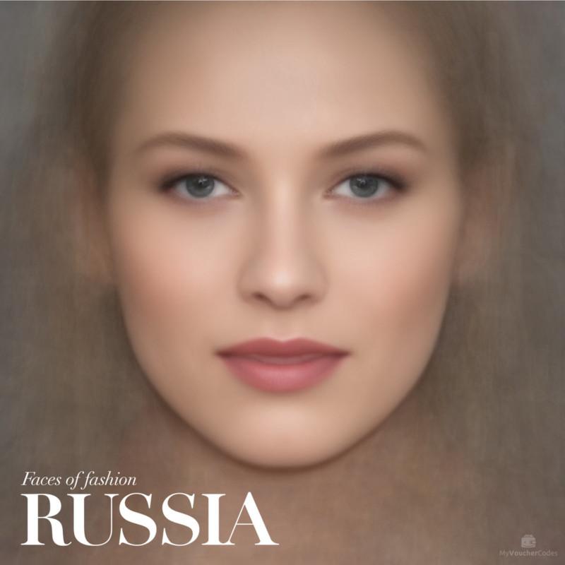 Усредненные лица моделей с обложек Vogue разных стран