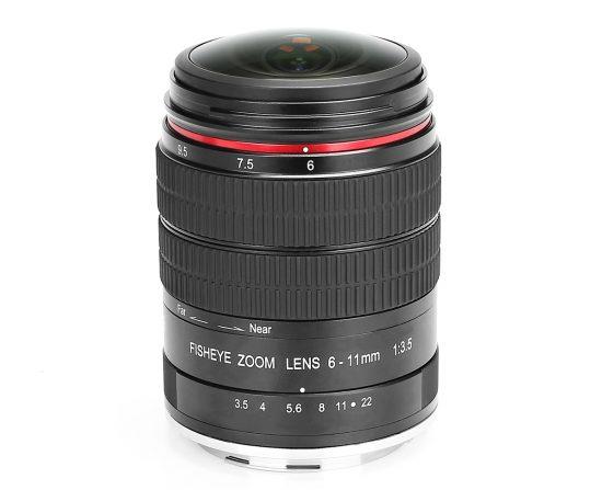 Анонс фишая Meike 6-11mm f/3.5 для Nikon и Canon