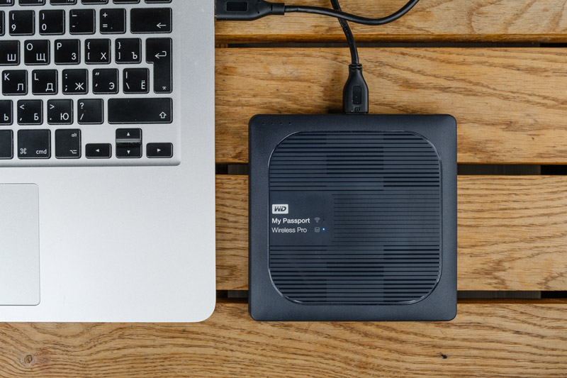 Подключение WD My Passport Wireless Pro